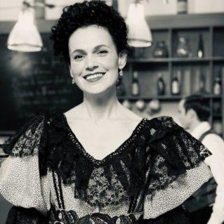 Charlotte Boimare en costume d'époque